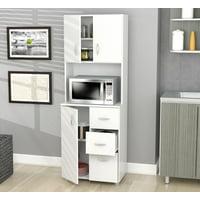 Inval 3-door 3-drawer Laminate Kitchen Storage Cabinet, Laricina-white
