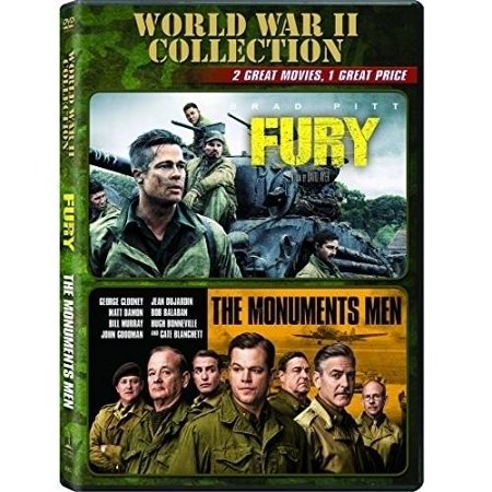 World War Ii Collection  Fury   The Monuments Men  With Instawatch   Anamorphic Widescreen