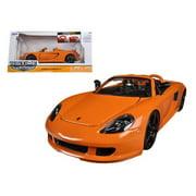 2005 Porsche Carrera GT Orange 1/24 Diecast Car Model by Jada
