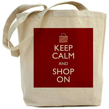22e897fb2ca1 CafePress - Keep Calm and Shop On Tote Bag - Walmart.com