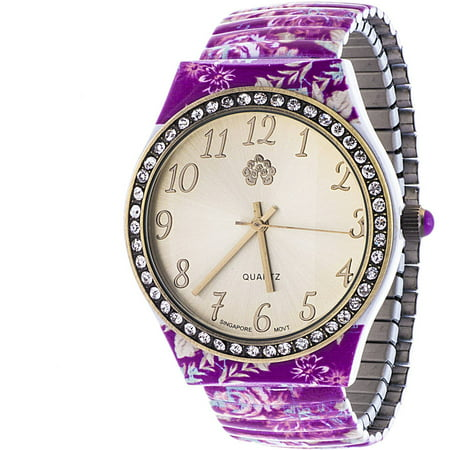 Wallflower Girls Gold And Pink Clear Stone Dial Watch  Pink Alloy Band