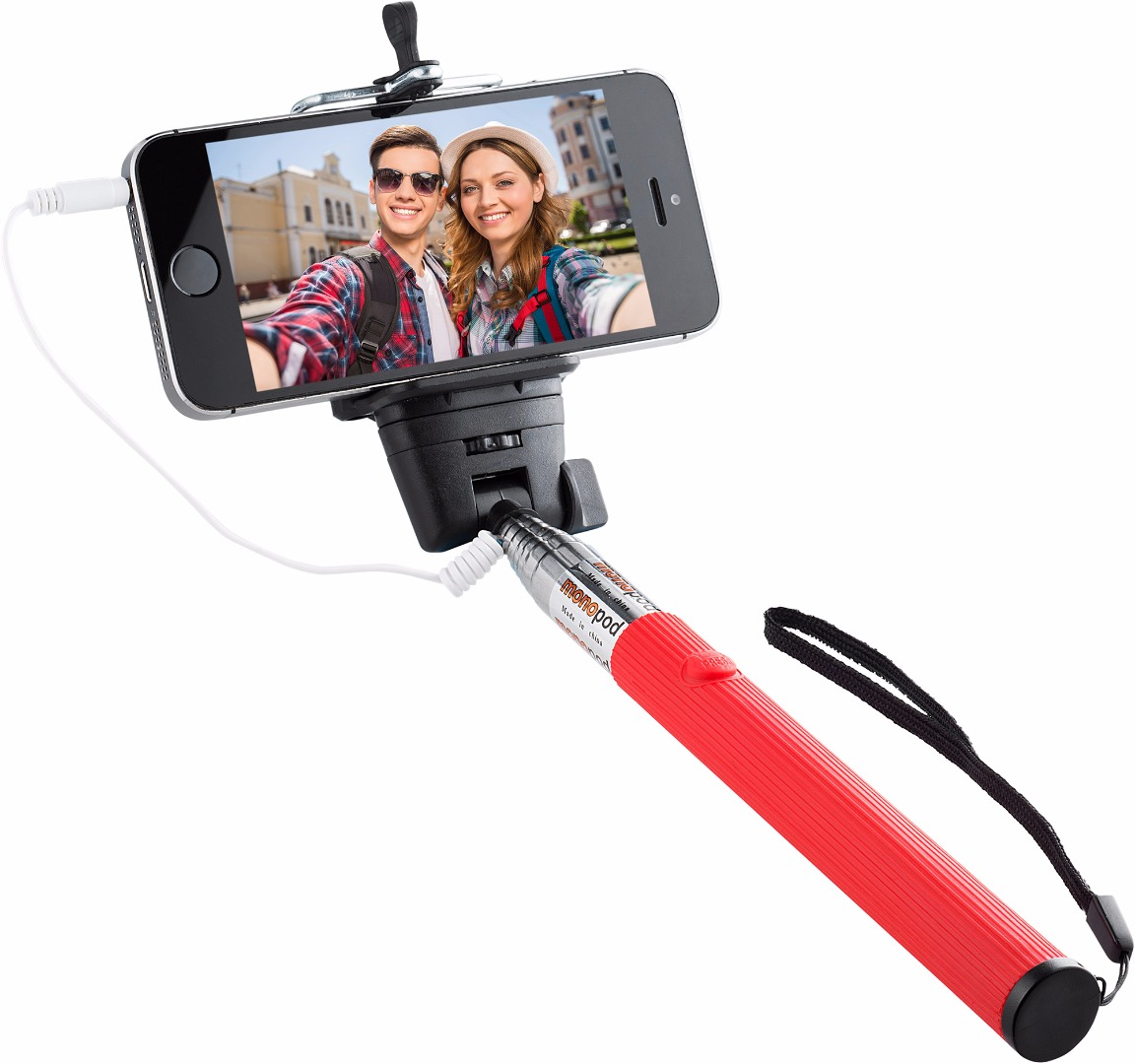Knox Gear Wired Selfie Stick (Red)
