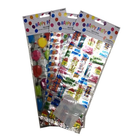 New 823455  Cello Bags 20Ct Happy Birthday Asst (24-Pack) Party Supplies Cheap Wholesale Discount Bulk Party Supplies Party Supplies Lighters