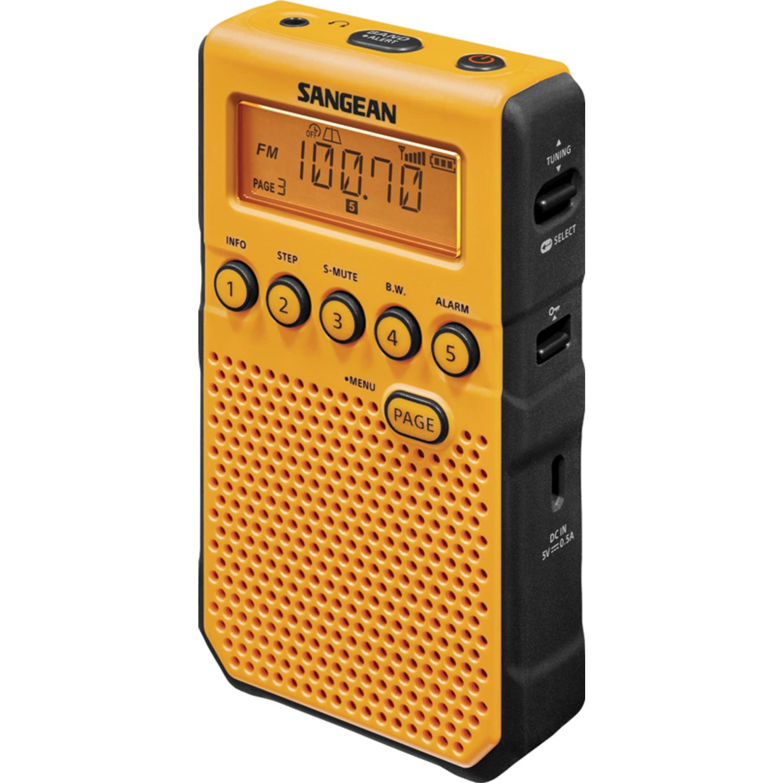 Sangean DT-800YL AM FM Weather Alert Pocket Radio (Yellow) by Sangean