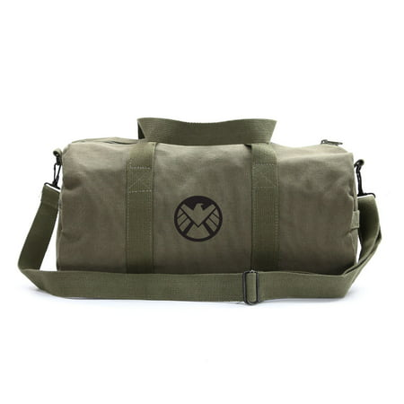 Marvel Agents of Shield Logo Canvas Military Duffle Bag School Sports Gym