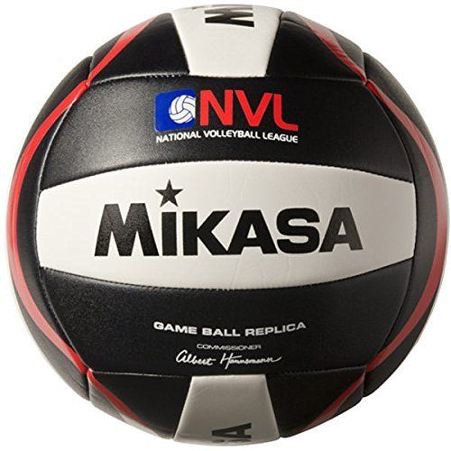 Mikasa D120 NVL Game Ball Replica Outdoor Volleyball Black White Red