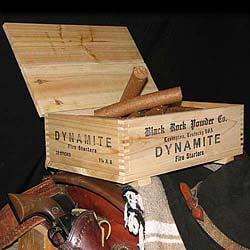 Black Rock Powder Company DYNAMITE Crate & Fire Starters