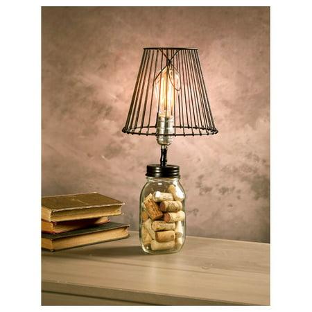 Darice Cleveland Vintage Lighting Canning Jar Light Bulb Lamp Adapter With Pole Socket