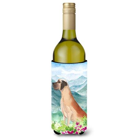 Mountian Flowers Great Dane Wine Bottle Beverage Insulator Hugger CK1976LITERK