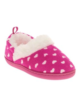 462c2281f43 Product Image Toddler Girls Pink Heart Print Polka Dot Aline Loafer Style  Slippers House Shoes