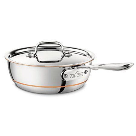 All Clad 6212 Ss Copper Core 5 Ply Bonded Dishwasher Safe Saucier Pan With