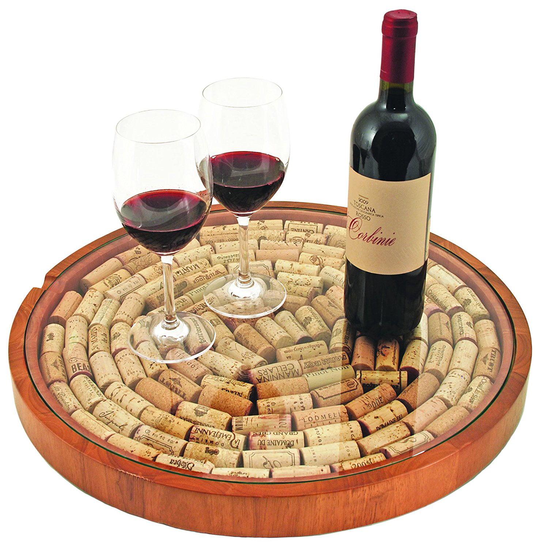 Cork Display, Rubber Wood Tabletop Decorative Glass Wine Bottle Cork Holder by TRUE