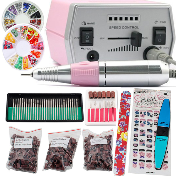 iMeshbean PROFESSIONAL ELECTRIC NAIL FILE Acrylic DRILL Manicure Pedicure Machine kit Set Pink