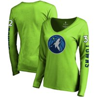 Karl-Anthony Towns Minnesota Timberwolves Fanatics Branded Women's Team Idol Name & Number Long Sleeve V-Neck T-Shirt -