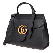 Gucci Ladies GG Marmont Small Top Handle Bag in Black