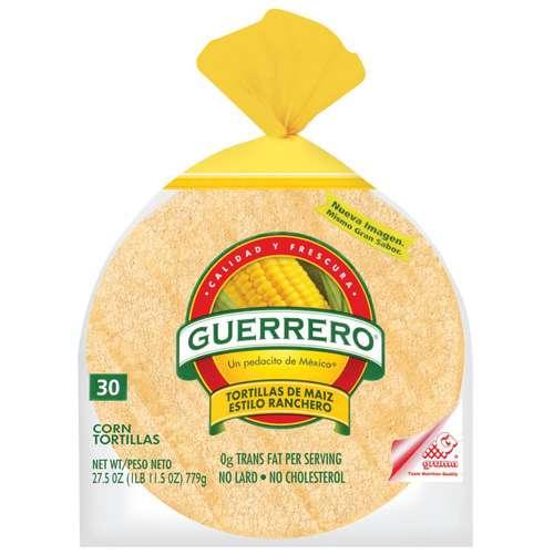Guerrero Corn De Maiz Estilo Ranchero Tortillas, 30ct