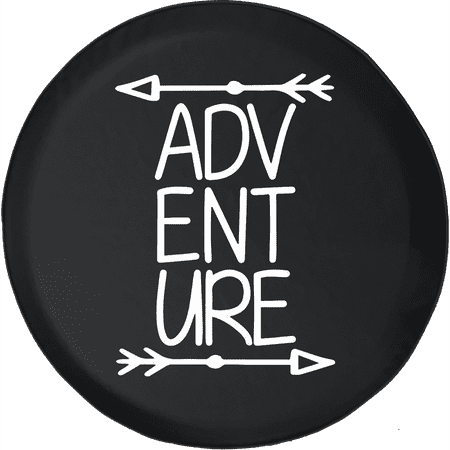 Adventure Fun 4x4 Offroad Muddin Climbing Grill Spare Tire Cover fits Jeep RV & More 28 Inch thumbnail