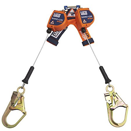 DBI-SALA 3500246Nano-Lok edge Twin-Leg Quick Connect Self Retracting Lifeline - Cable