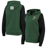 Milwaukee Bucks Nike Women's Club Fleece Full-Zip Hoodie - Hunter Green