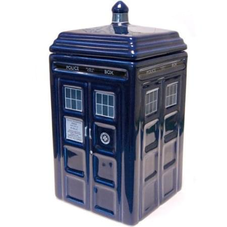 Click here to buy Doctor Who Tardis Ceramic Cookie Jar by Underground Toys.