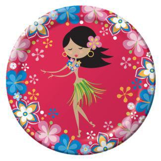 Hula Girl 9 inch Lunch/Dinner Plates. - Hula Girl Cutout