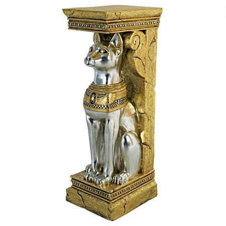 Design Toscano Egyptian Cat Goddess Bastet Pedestal -