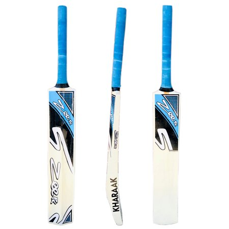 Cricket Bat for Tape Ball and Tennis Softball Kashmir Willow Thick Edge (Cost Of Cricket Ball Used In International Matches)