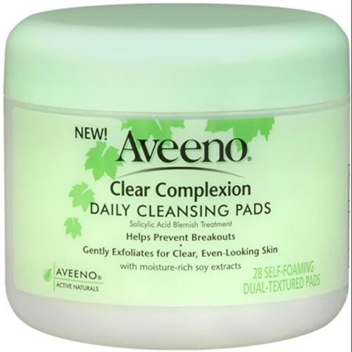 AVEENO Clear Complexion Daily Cleansing Pads 28 Each (Pack of 3)