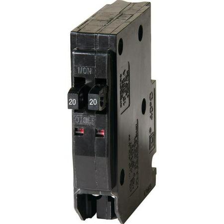 Square D QO2020CP Type QO Replacement Tandem Circuit Breaker, 120/240 VAC, 20 A, 1 P, 10 (Square D Qo Tandem 20 Amp Circuit Breaker)