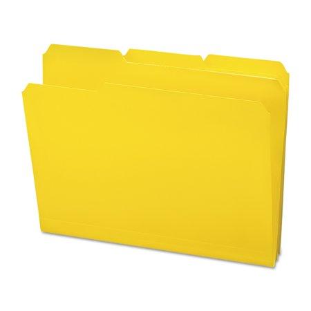 Smead Waterproof Poly File Folders  1 3 Cut Top Tab  Letter  Yellow  24 Box