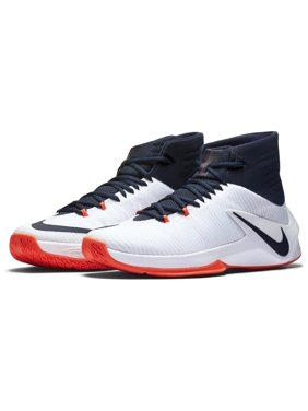 Nike Men's Zoom Clear Out Basketball Shoes - White/Obsidian