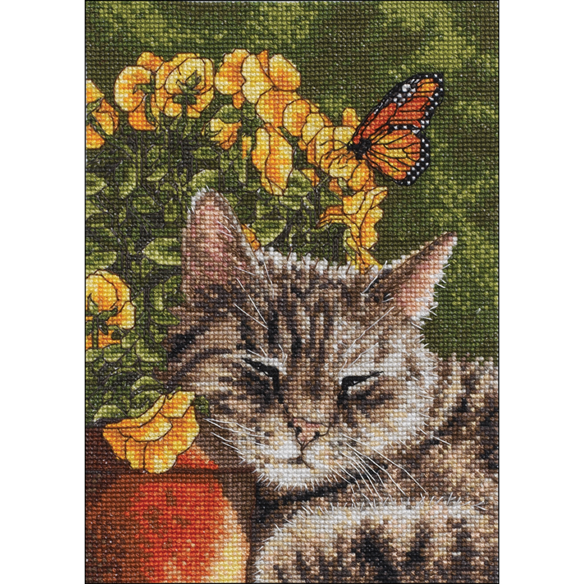 "Bucilla Mini Counted Cross Stitch Kit 5""X7""-Afternoon Nap (14 Count)"
