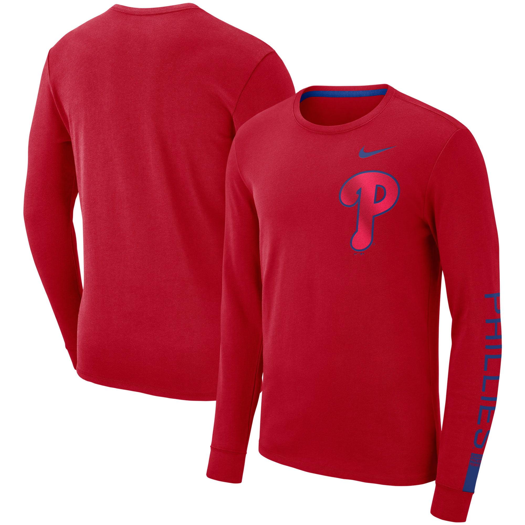 Philadelphia Phillies Nike Heavyweight Long Sleeve T-Shirt - Red