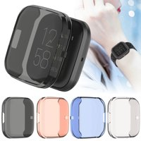 TSV Watch Protective Cover Screen Protector Case Compatible with Fitbit Versa 2, Colorful Shock-Proof Quick Release Shell Watch Cover Light Weight Design Protector Accessories for Smartwatch