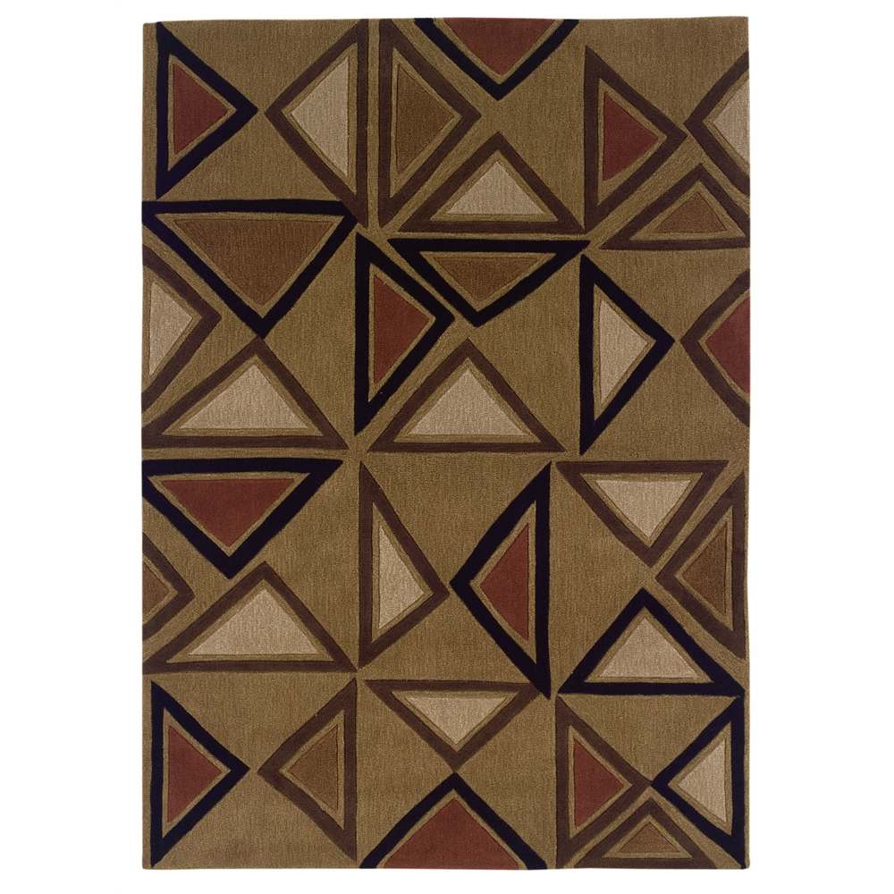 Trio Collection Camel & Brick 5 x 7 Rug