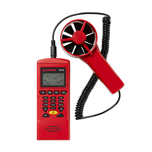Amprobe TMA40-A 3 in 1 Datalogging Anemometer with Air Velocity/Volume, Temperature and Humidity
