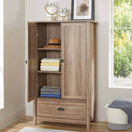 Better Homes & Gardens Lafayette Armoire, Washed Oak Finish - French Country Oak Armoire