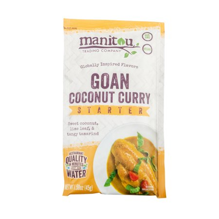 Goan Coconut Vegan Curry Starter, 8/1.58 Ounce Pouch (Company Coconut)