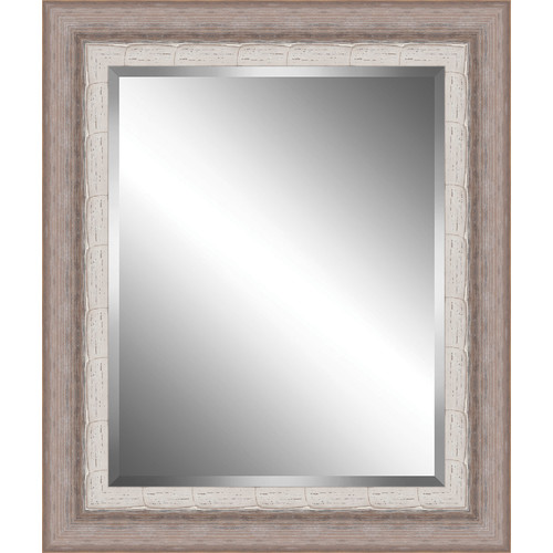 Ashton Wall D cor LLC Ribbed Wood Framed Beveled Plate Glass Mirror