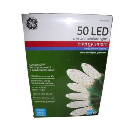 Ge Energy Smart 50 Clear Led Crystal Miniature Lights