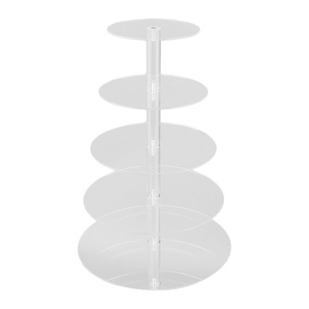 Outad   5 Tier Cupcake Stands Acrylic Stand Wedding Birthday Party Display Stand Tool  Transparent