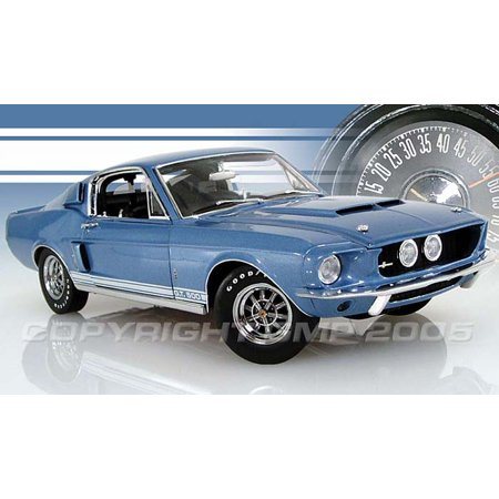 1967 Shelby Mustang GT500 Blue Diecast Model 1:24 scale by GMP