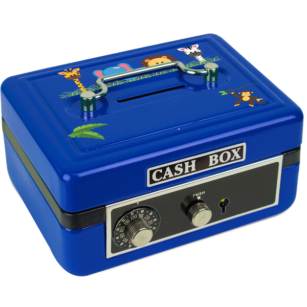 Personalized Jungle Animals Girl Cash Box