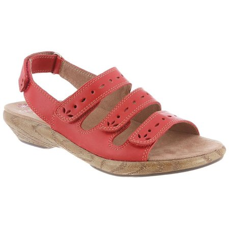 Lacie By Klogs Hunter Red Womens Leather Sandals 8 M