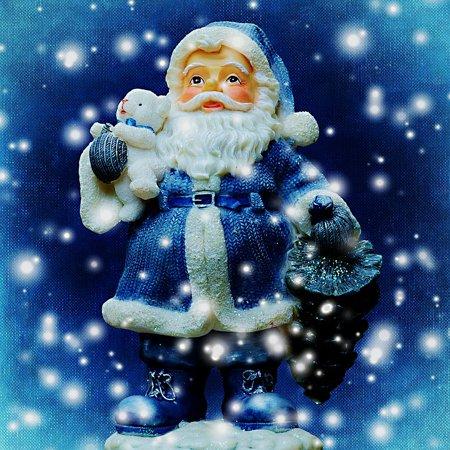 Framed Art for Your Wall Christmas Santa Claus Roe Deer Snow Christmas Motif 10x13 Frame