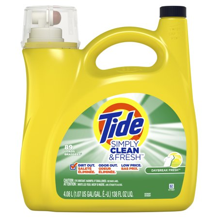 Tide Simply Clean & Fresh Liquid Laundry Detergent, Daybreak Fresh, 89 Loads 138 fl oz