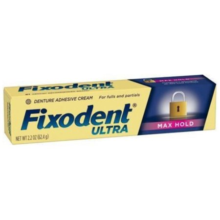 4 Pack - Fixodent Ultra Max Hold Dental Adhesive, 2.2