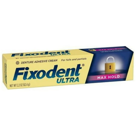3 Pack - Fixodent Ultra Max Hold Dental Adhesive, 2.2