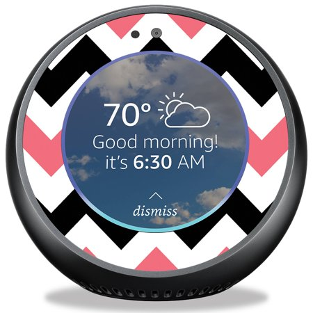 Skin For Amazon Echo Spot   Black Pink Chevron  Mightyskins Protective  Durable  And Unique Vinyl Decal Wrap Cover   Easy To Apply  Remove  And Change Styles   Made In The Usa