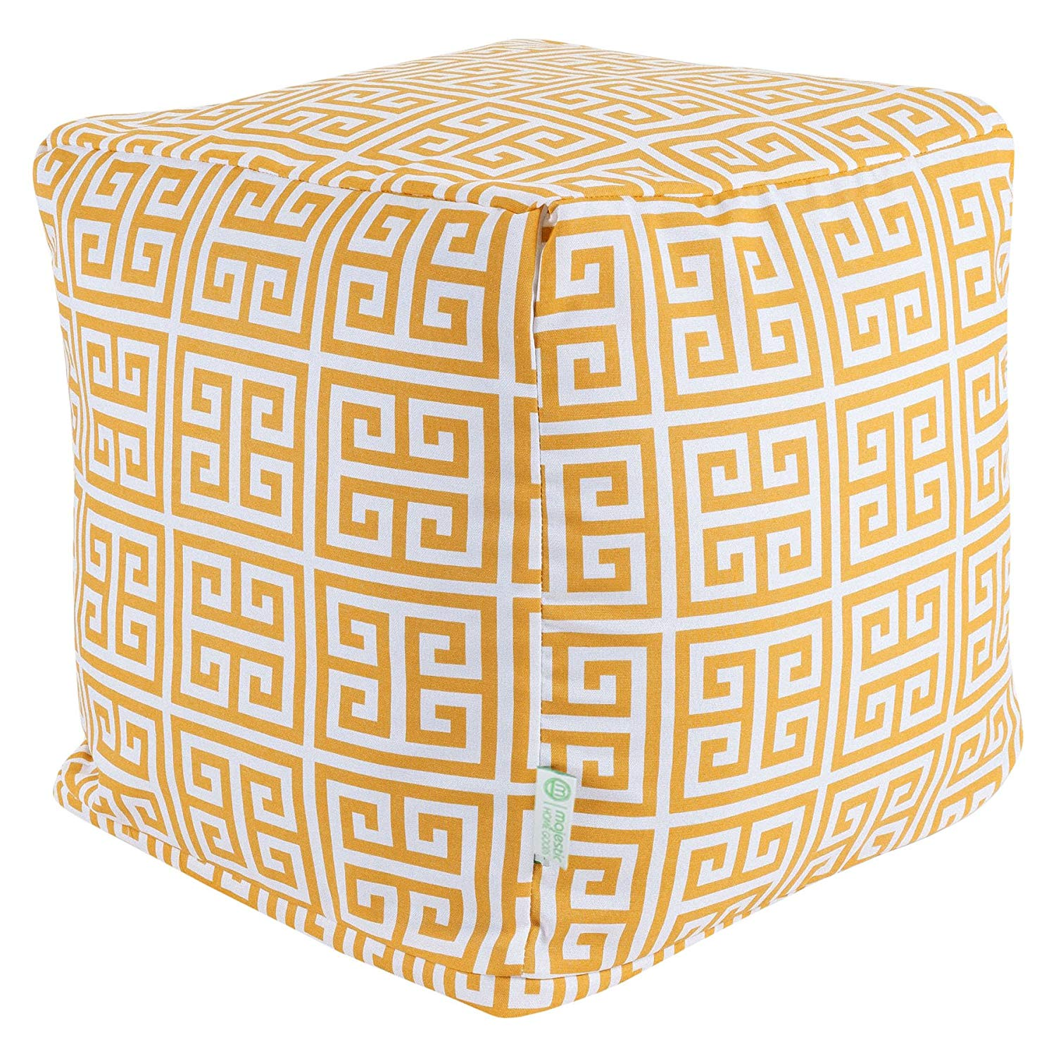 Majestic Home Goods Towers Indoor/Outdoor Ottoman Pouf Cube